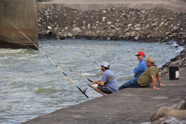 Sardis Lake Dam fishing